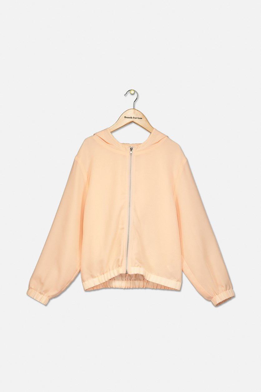 Kids Girl's Tara Hooded Jacket, Peach