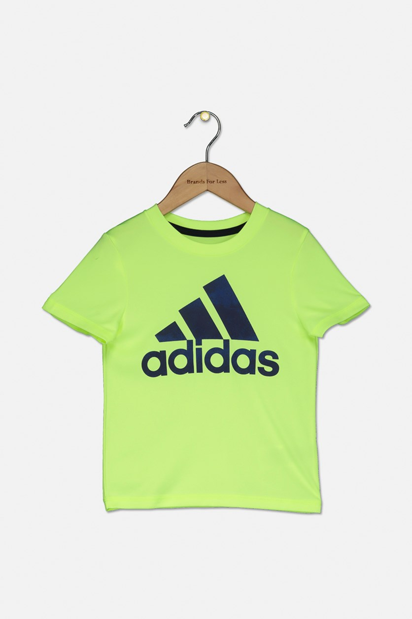 Toddlers Logo Graphic T-Shirt, Lime Green