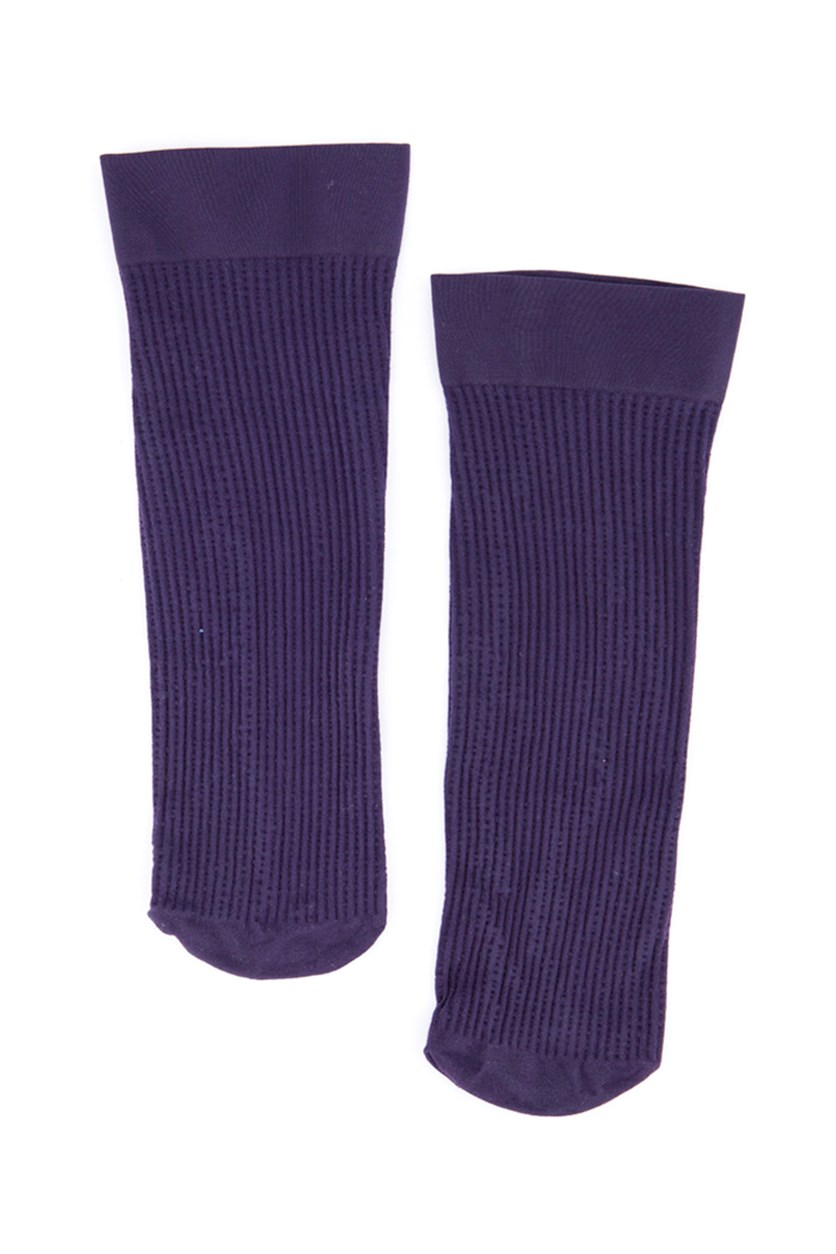 Girls Textured Socks, Violet