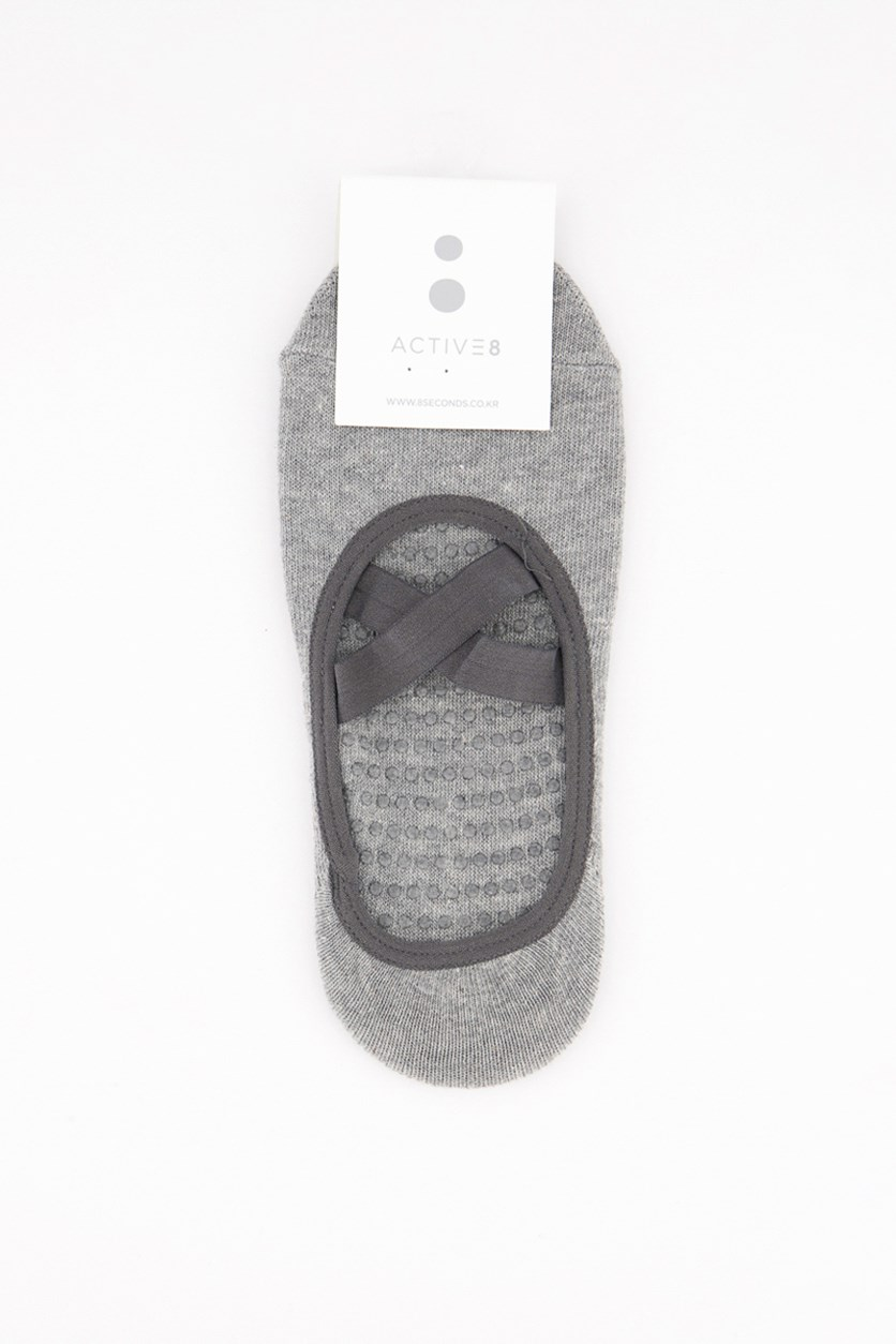 Girl's Textured Sock, Grey