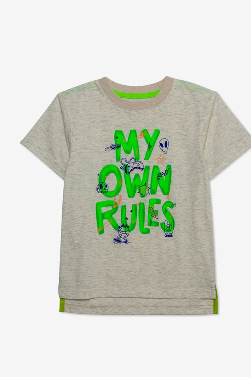 Toddler Boys My Own Rules Graphic T-Shirt, Oatmeal