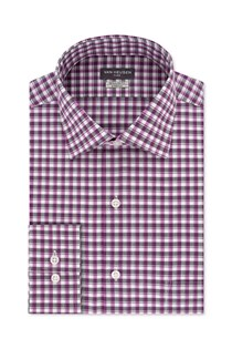 Men's Fitted Th Flex Performance Stretch Moisture-Wicking Dress Shirt, Purple