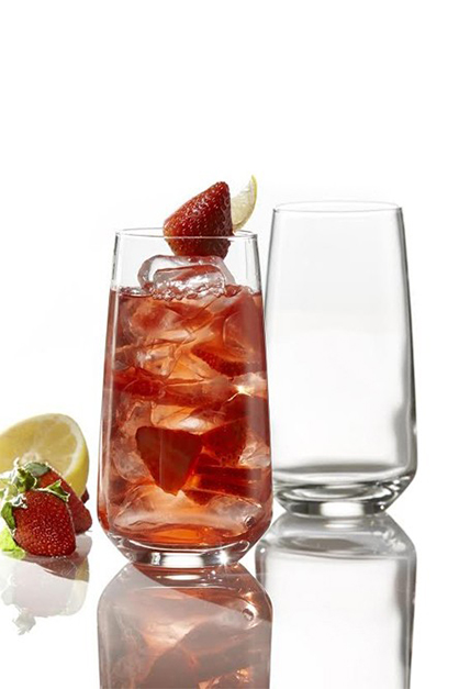 Firenze Highball Set Of 4, Transparent