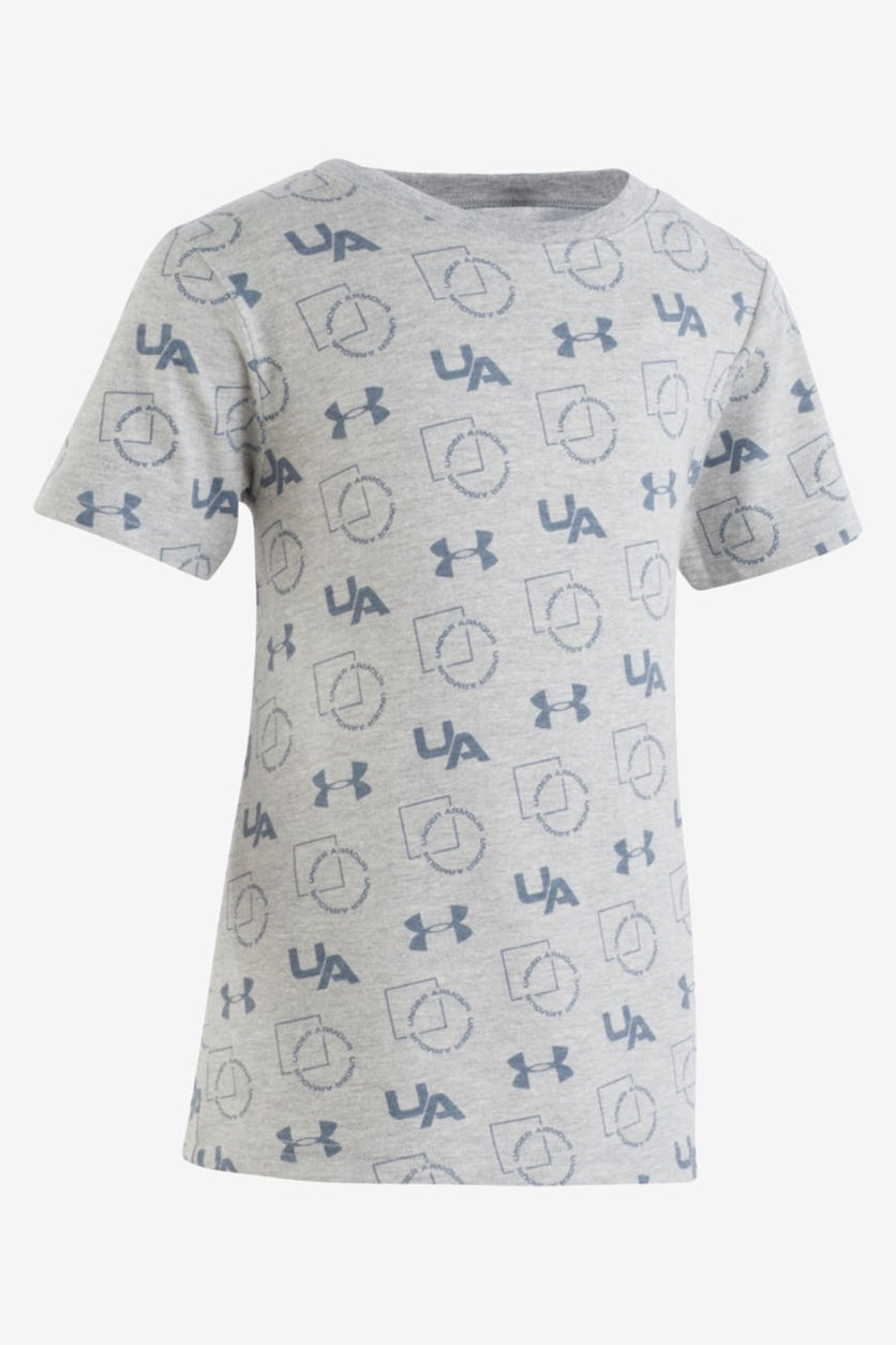 Little Boy's Logo-Print T-Shirt, Mod Gray
