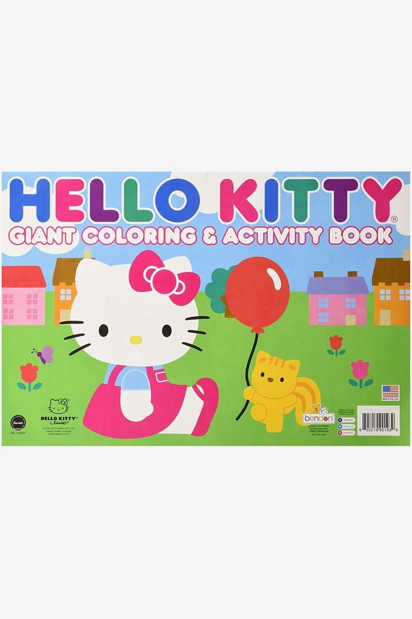 Hello Kitty Giant Coloring and Activity Book, Green/Blue/Pink