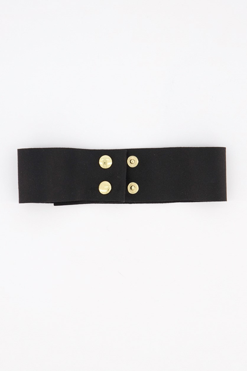 Women's Spencer Suede Choker, Black