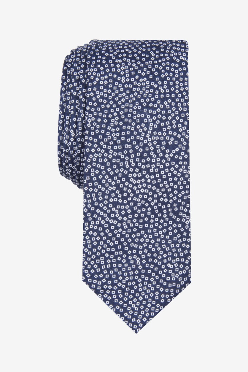 Men's Bucard Mini Skinny Tie. Navy