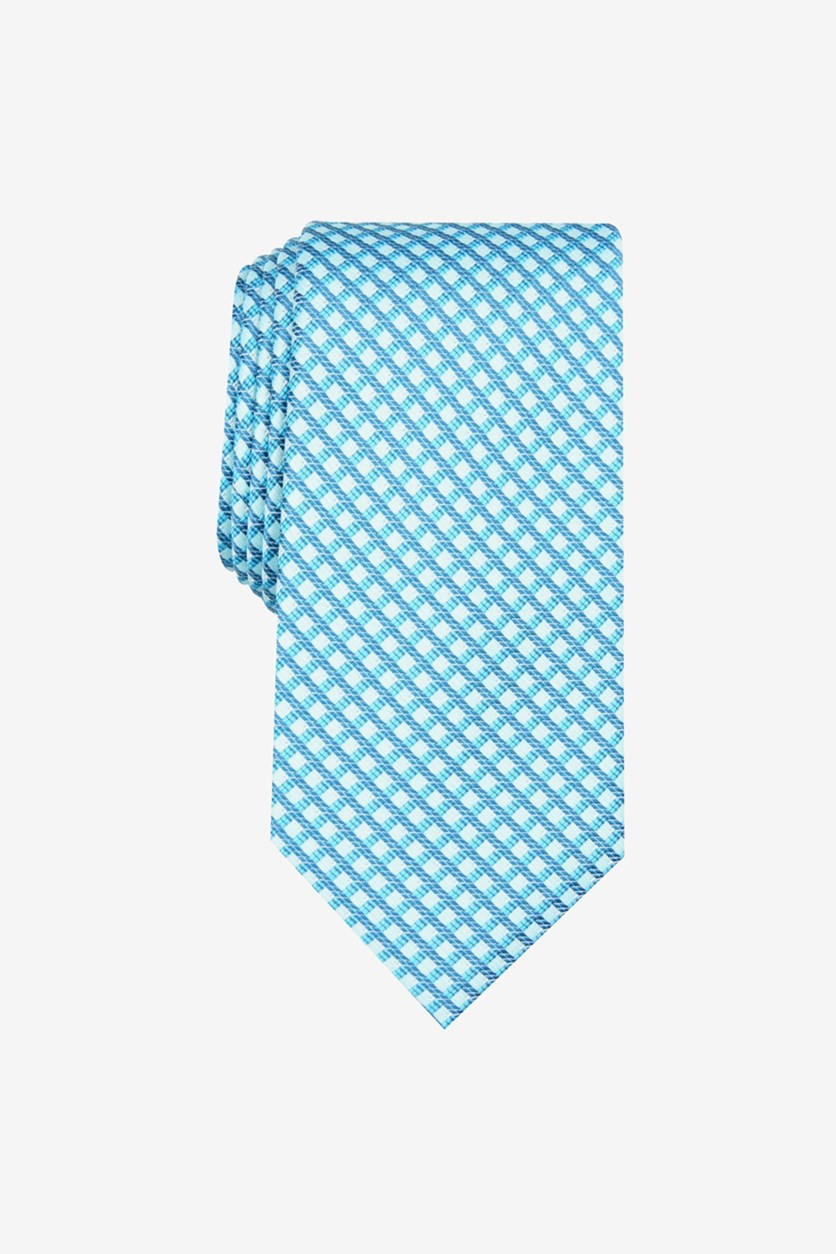 Men's Bluefield Classic Grid Tie, Blue Green