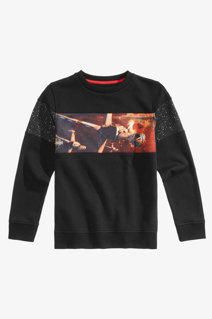 Big Boys Star Wars Graphic Sweatshirt, Black Combo
