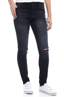 Women's High-Rise Skinny Jeans, Black
