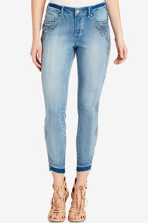 Women's Ombre Printed Skinny Jeans, Blue