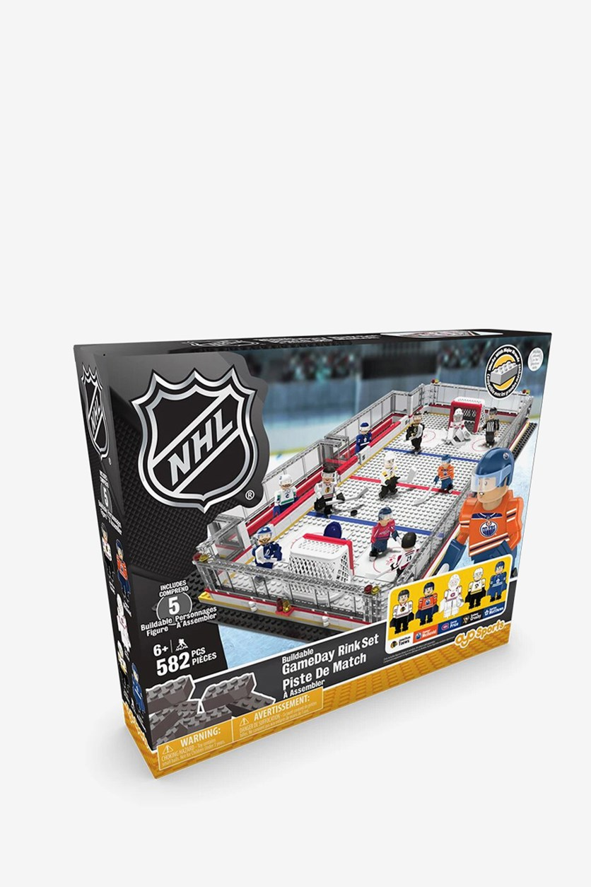 Game Day Buildable Hockey Rink  Set, Gray Combo
