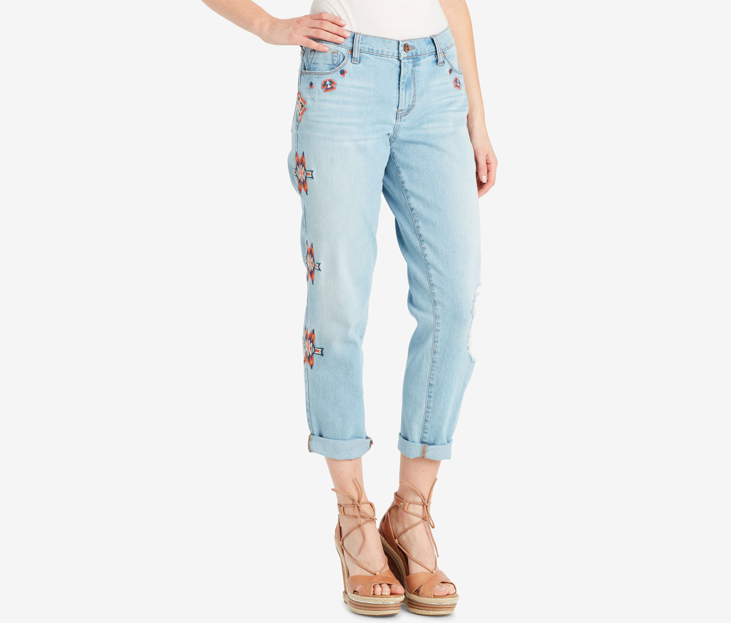 Women's Mika Best Friend Embroidered Jeans, Blue