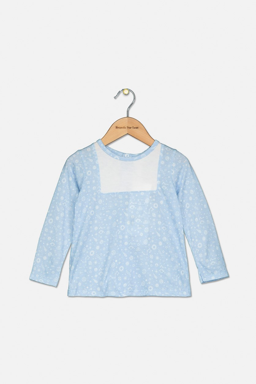 Baby Boy's Long Sleeves Top, Blue/White