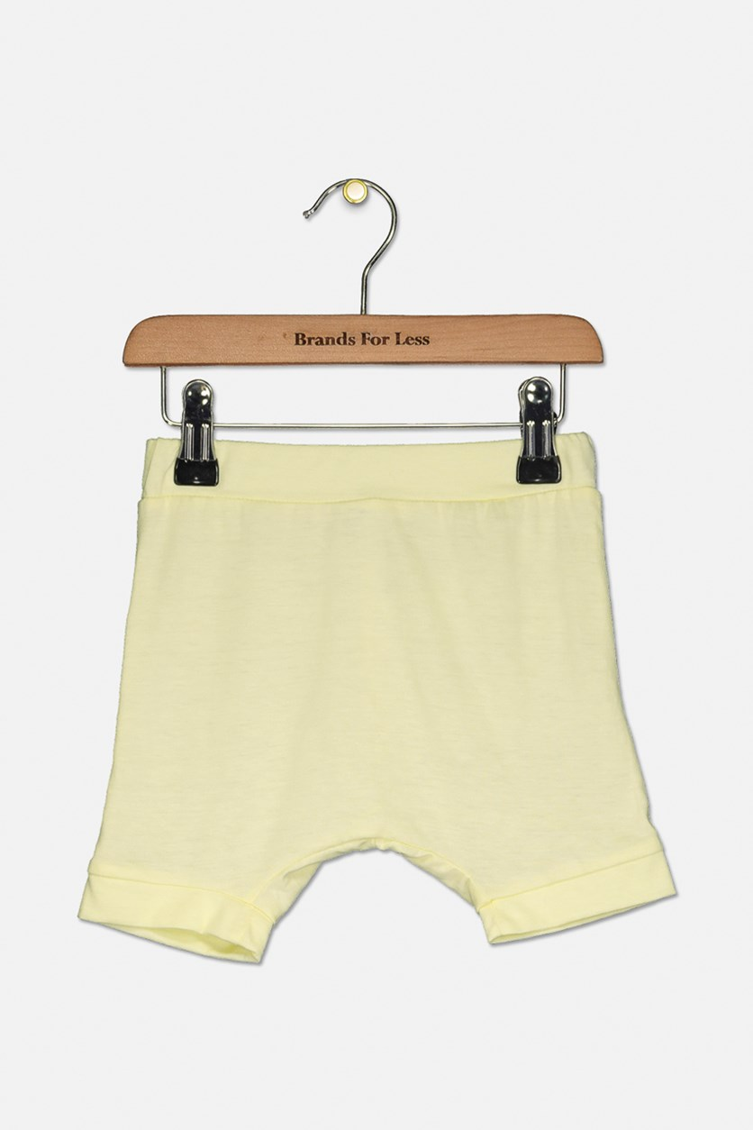 Toddler's Plain Pull-On Shorts, Yellow