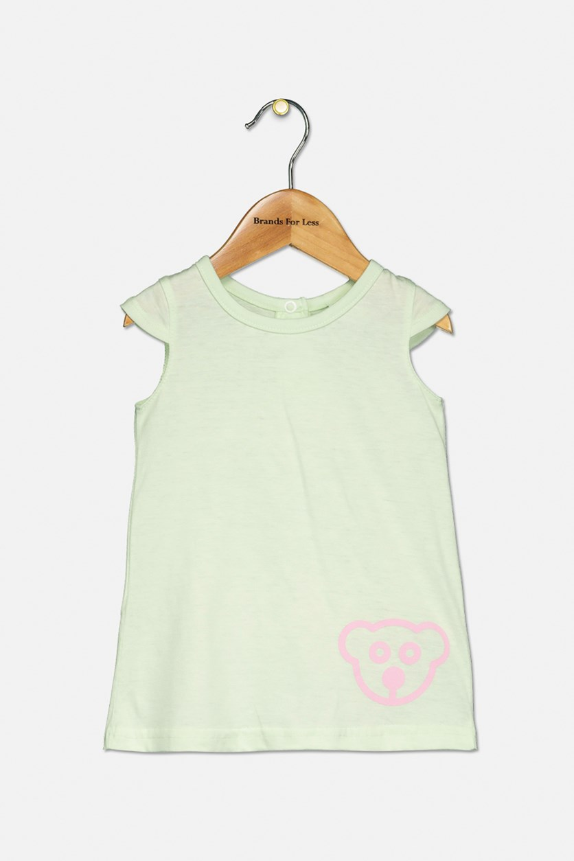 Baby Girls Cap Sleeve Dress, Mint Green