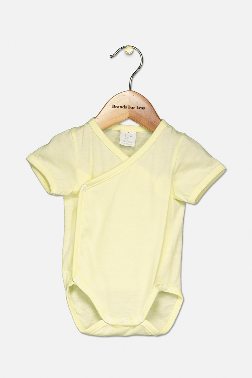 Toddler's Snap Button Romper, Yellow