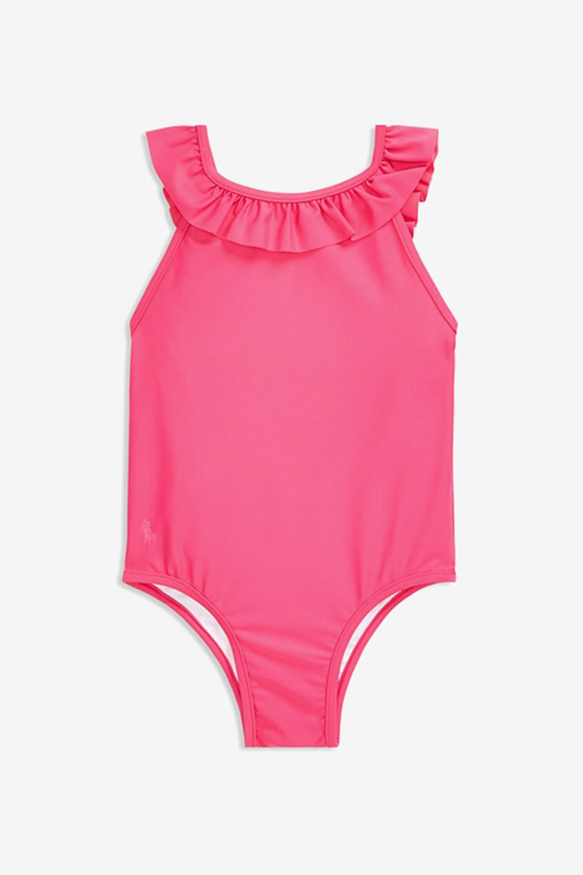 Baby Girls' Ruffled One-Piece Swimsuit, Pink