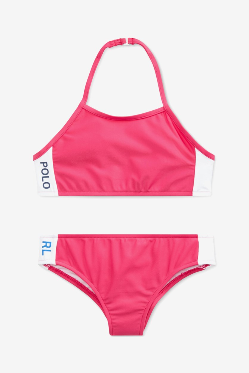 Big Girls Solid Two-Piece Swimsuit, Pink