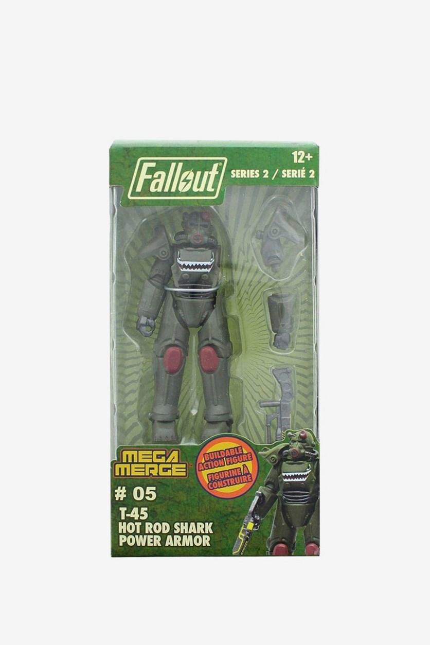 Fallout Series 2 T-45 Hot Rod Shark Power Armor, Dark Green