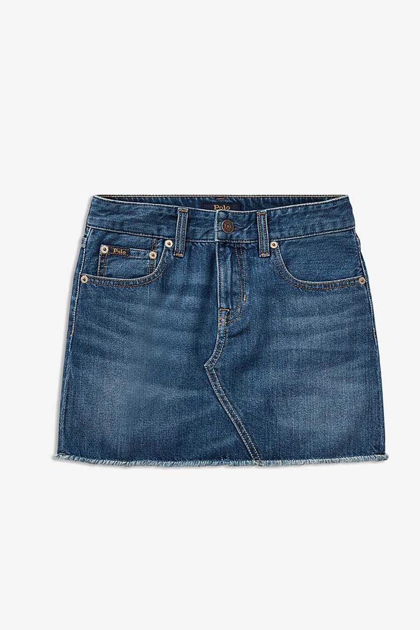 Kids Girls Denim Skirt, Blue