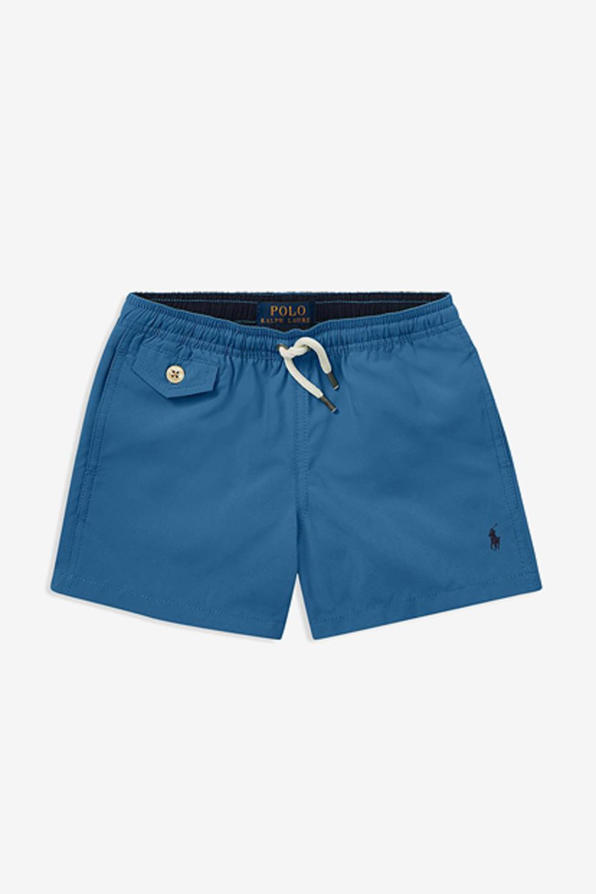 Little Boy's Traveler Swim Trunks, Blue