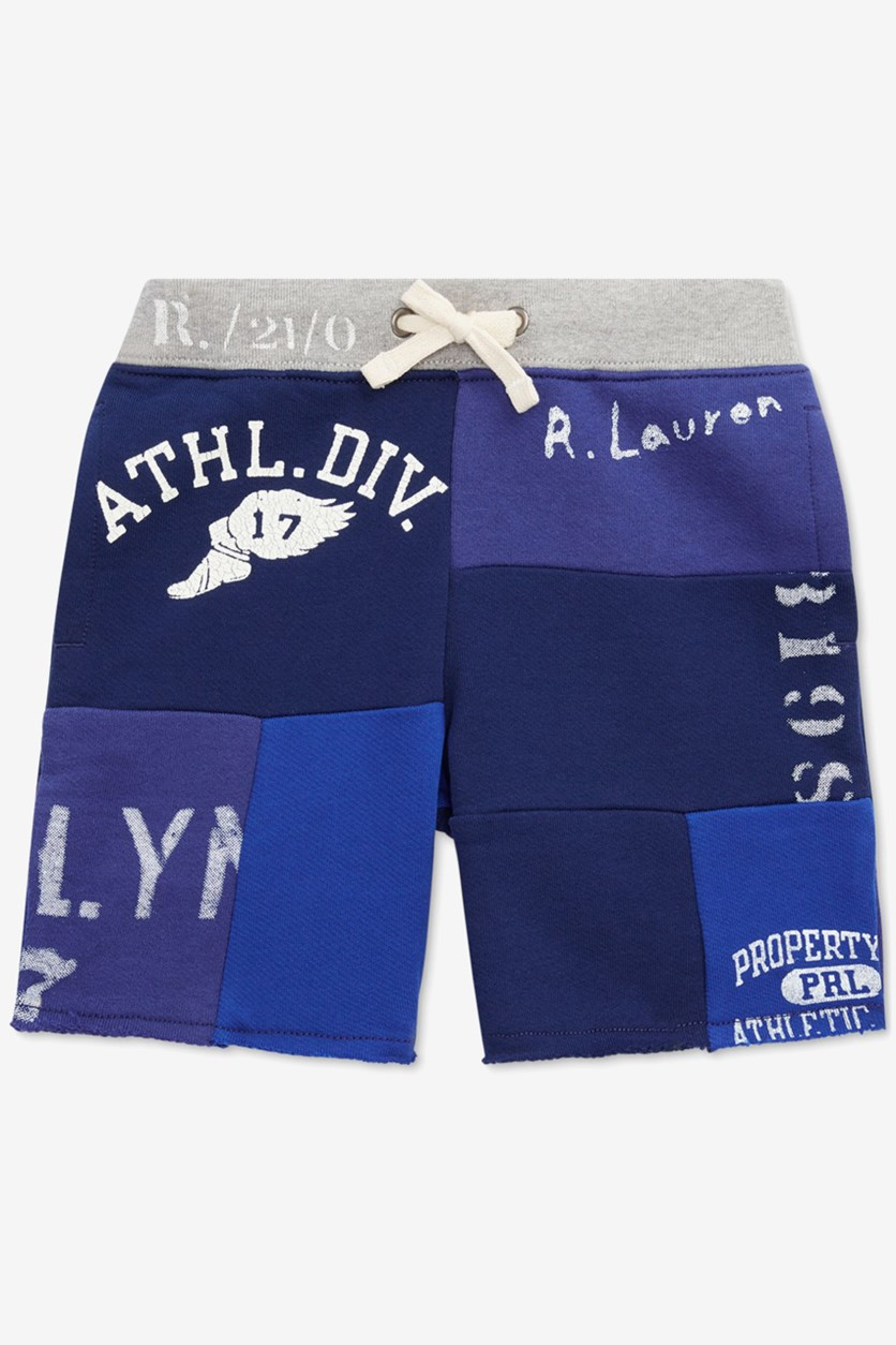 Toddlers Boys Color-block Short, Navy Combo