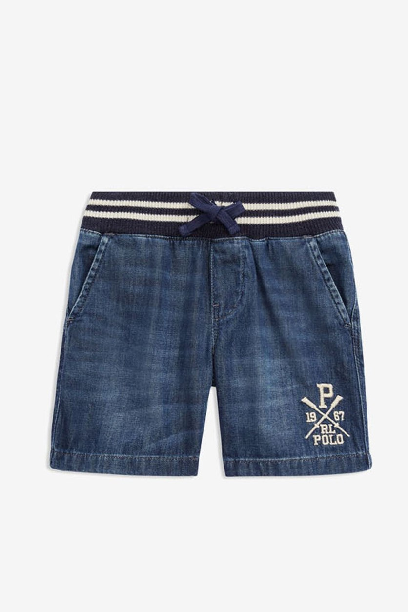 Boys' Denim Shorts, Navy Blue