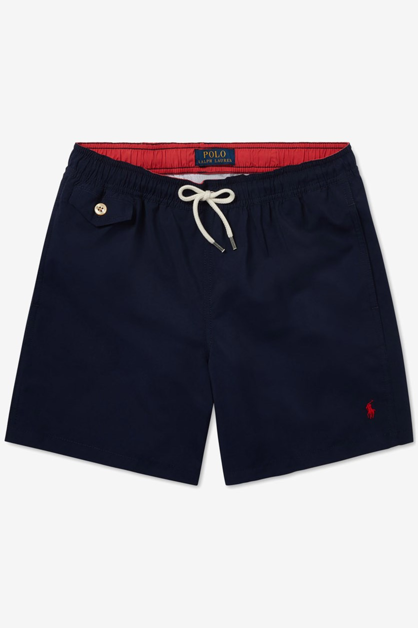 Boys' Traveler Swim Trunks, Navy