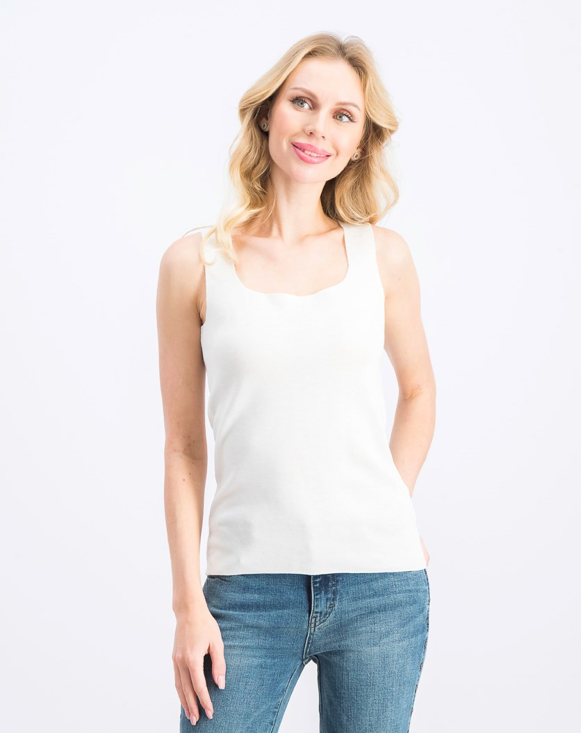 Women's Sleeveless Top, Off White