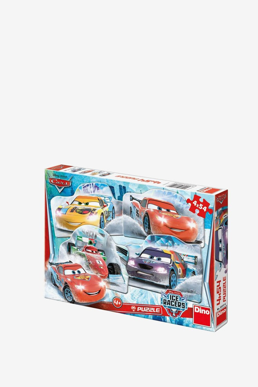 Disney Cars Racers Pack Of 4 Shaped Puzzles, Red/Yellow Combo