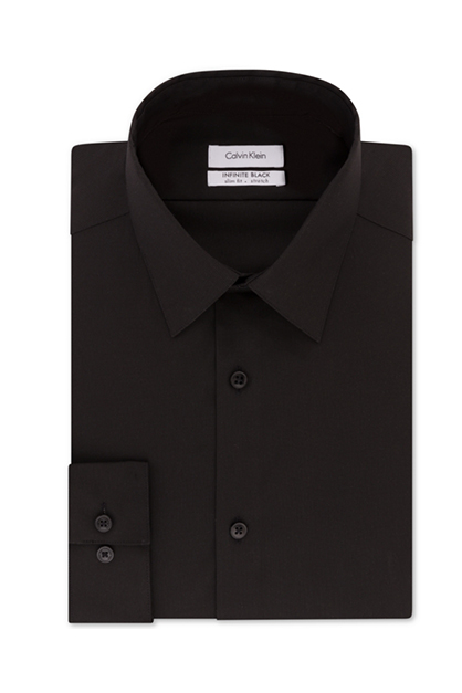 Men's Steel Non-Iron Performance  Dress Shirt, Black