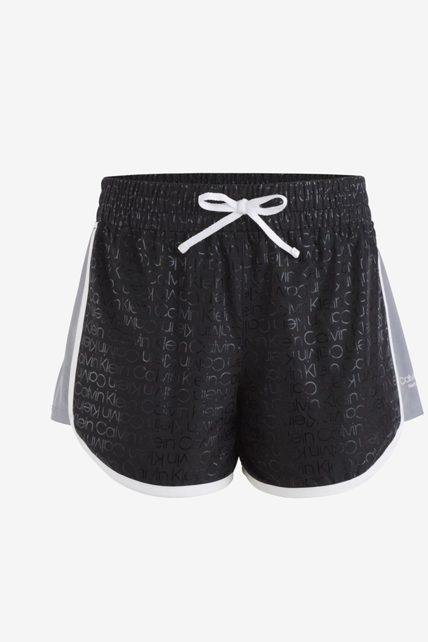 Big Girls Logo-Print Shorts, Black