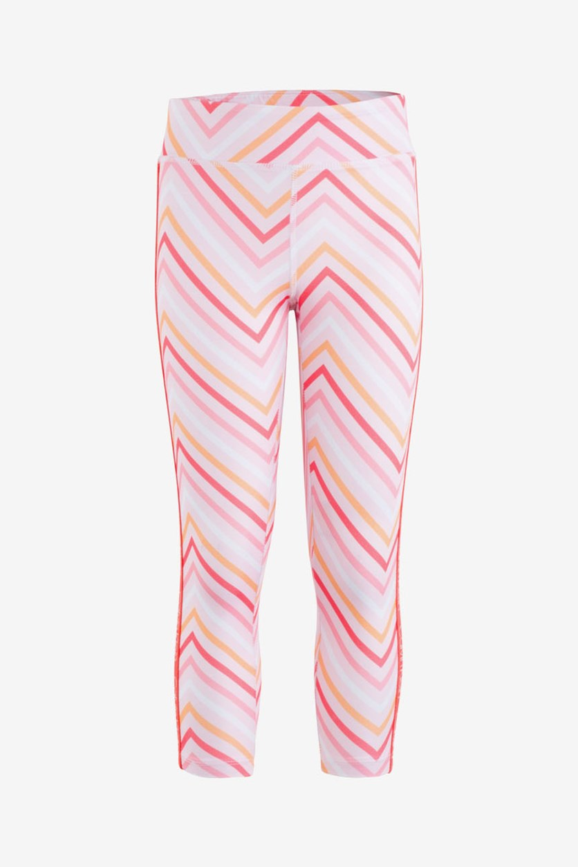 Big Girls Zigzag-Print Capri Leggings, Ligt Pink