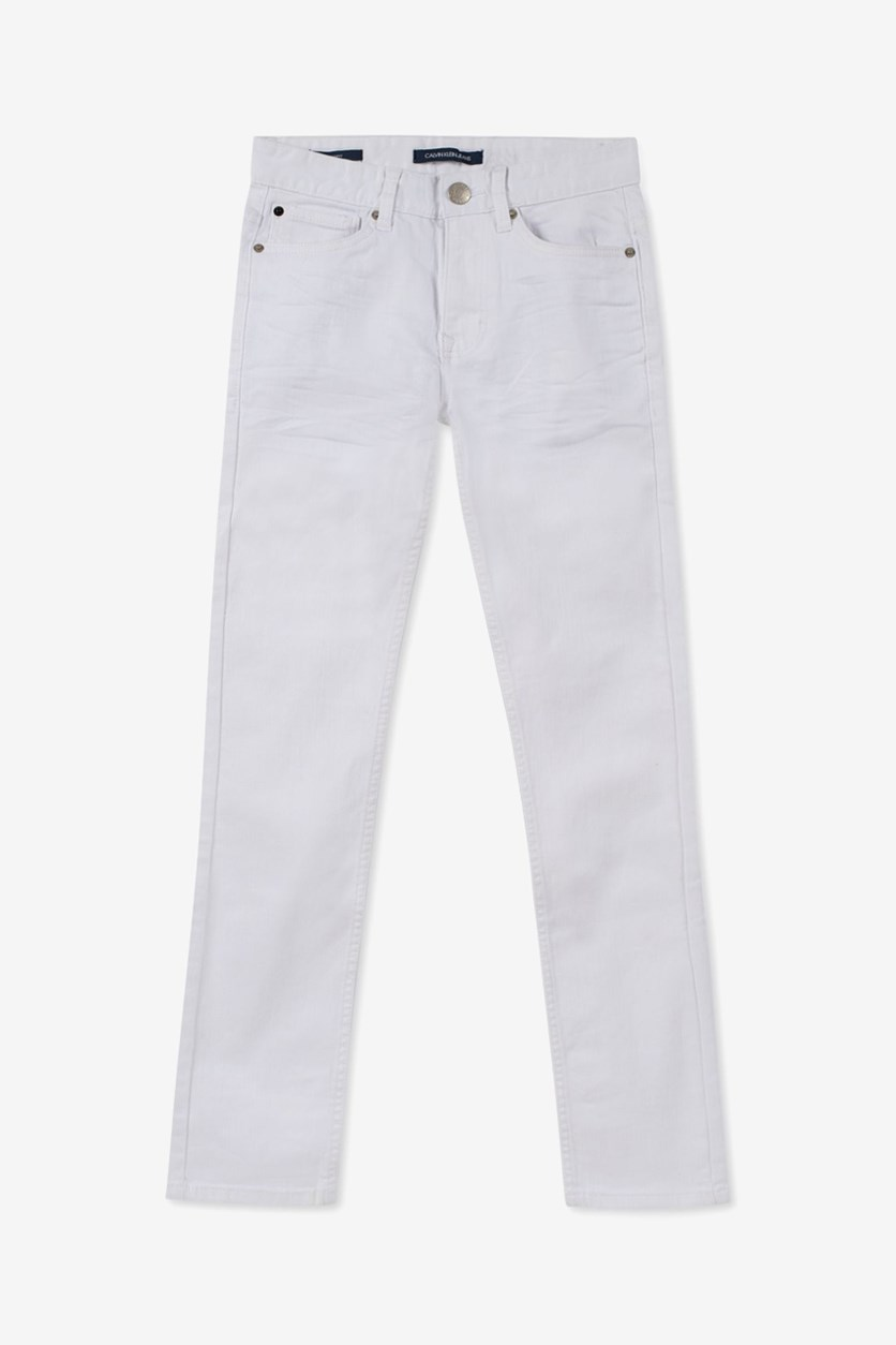 Big Boys Skinny-Fit Jeans, White