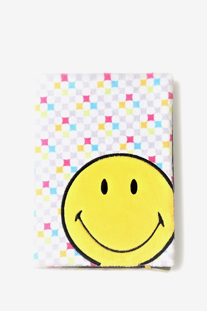 Smiley Blank Notebook With Removable Cover, White/Yellow