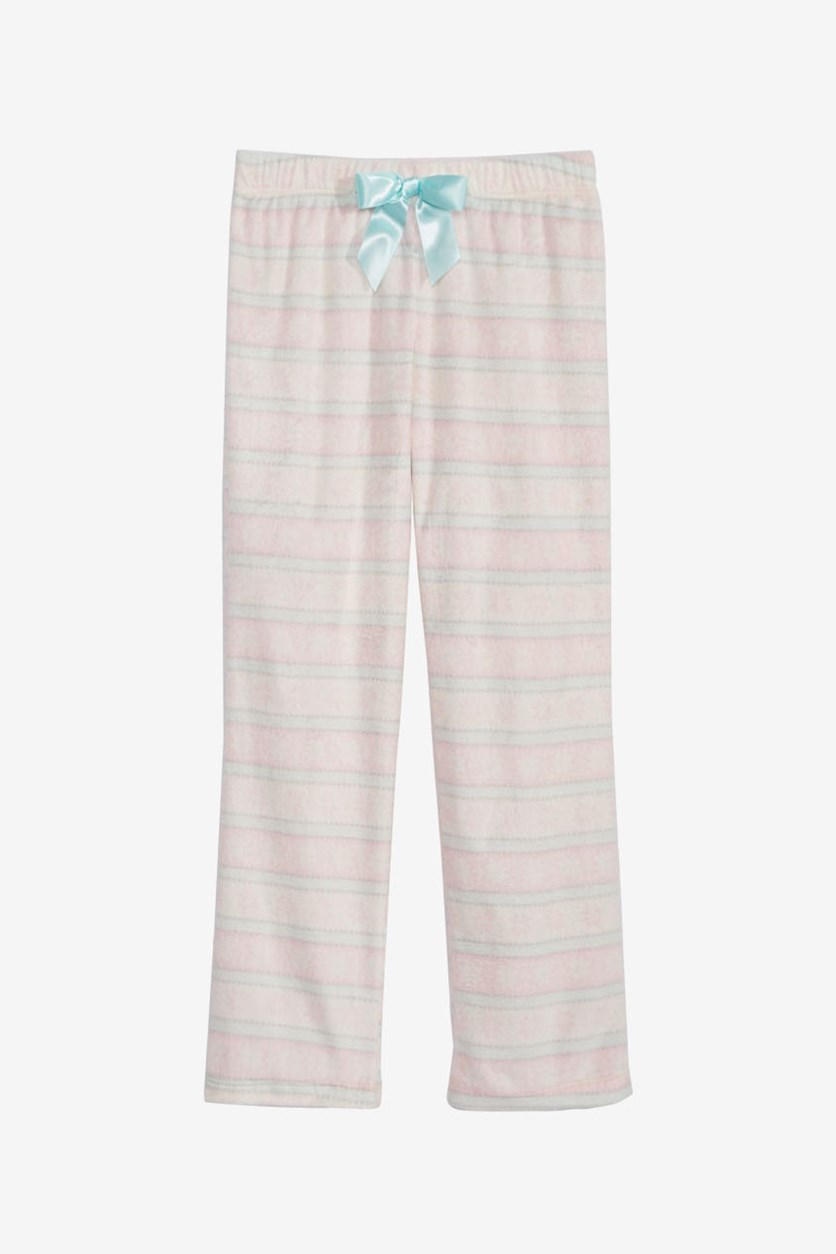 Big Girls Fair Isle Pajama Pants, Pink/Aua