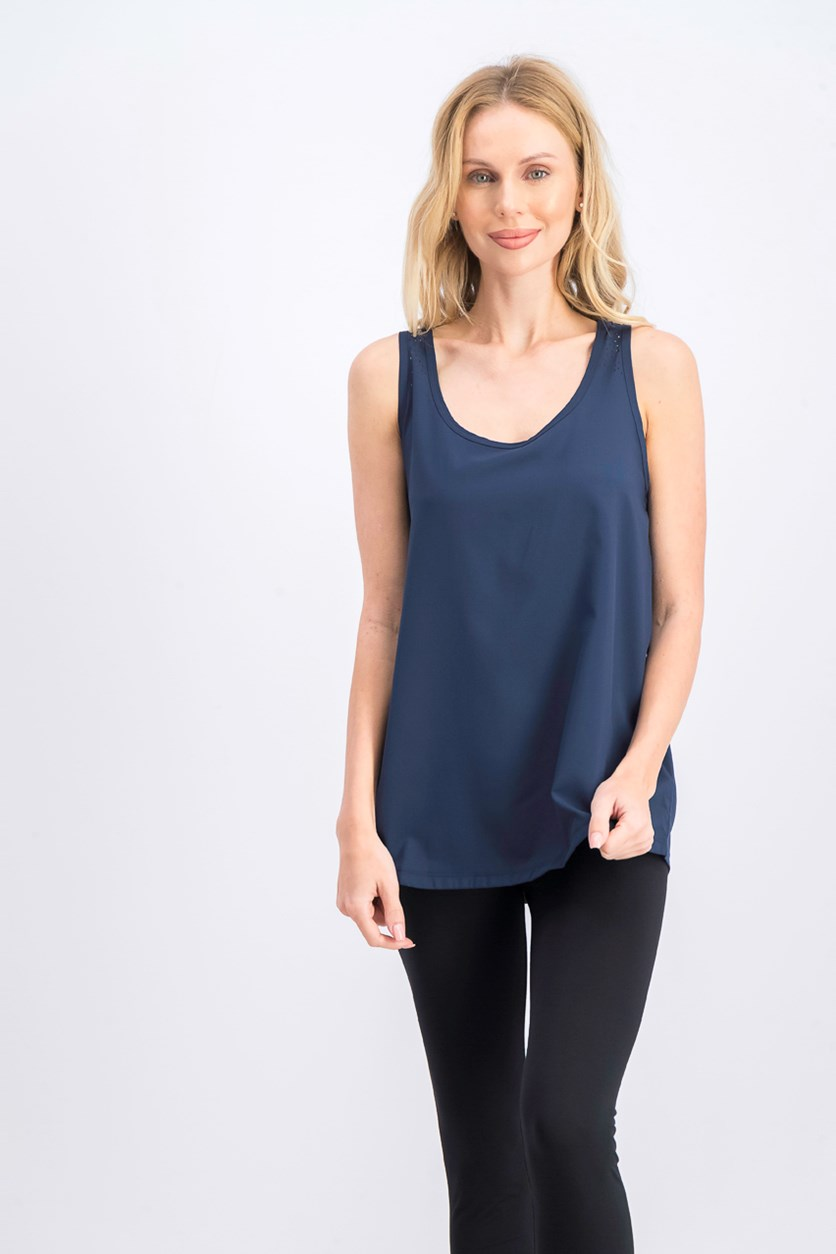 Women's Fitness Top, Dark Blue
