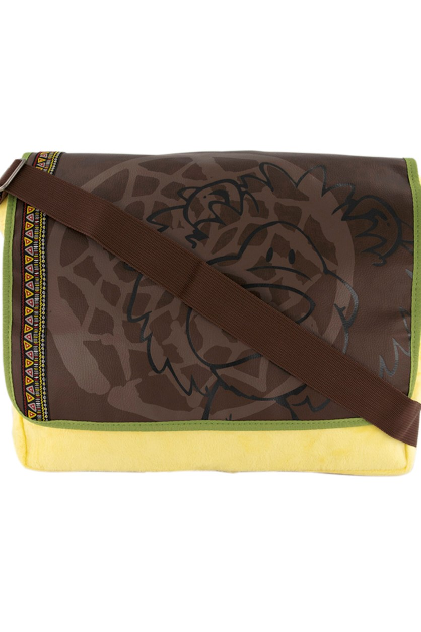 Cross Body Bag Lion Pluscar, Brown/Yellow