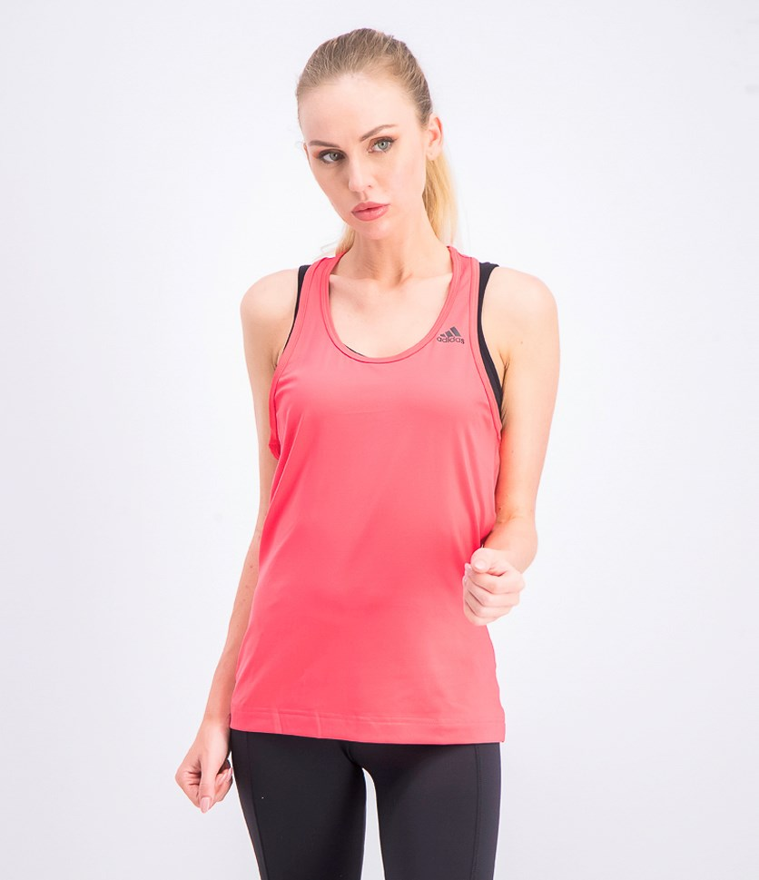 Women's Solid Tank Top, Dark Pink