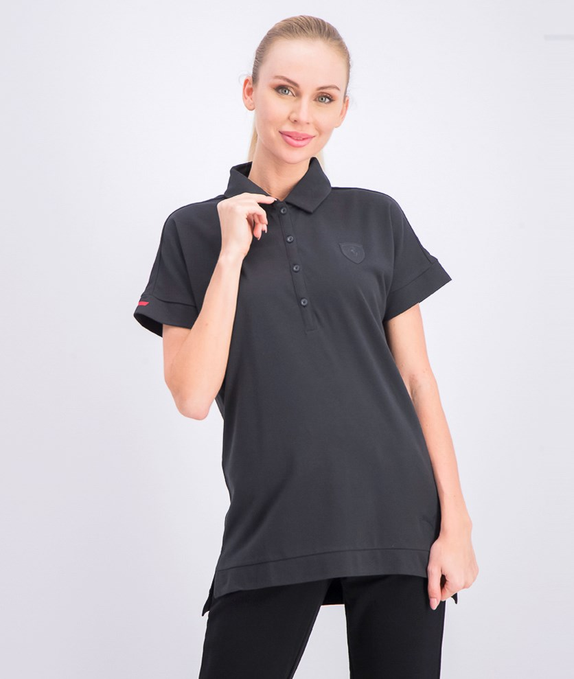 Women's Ferrari Polo Shirt, Black