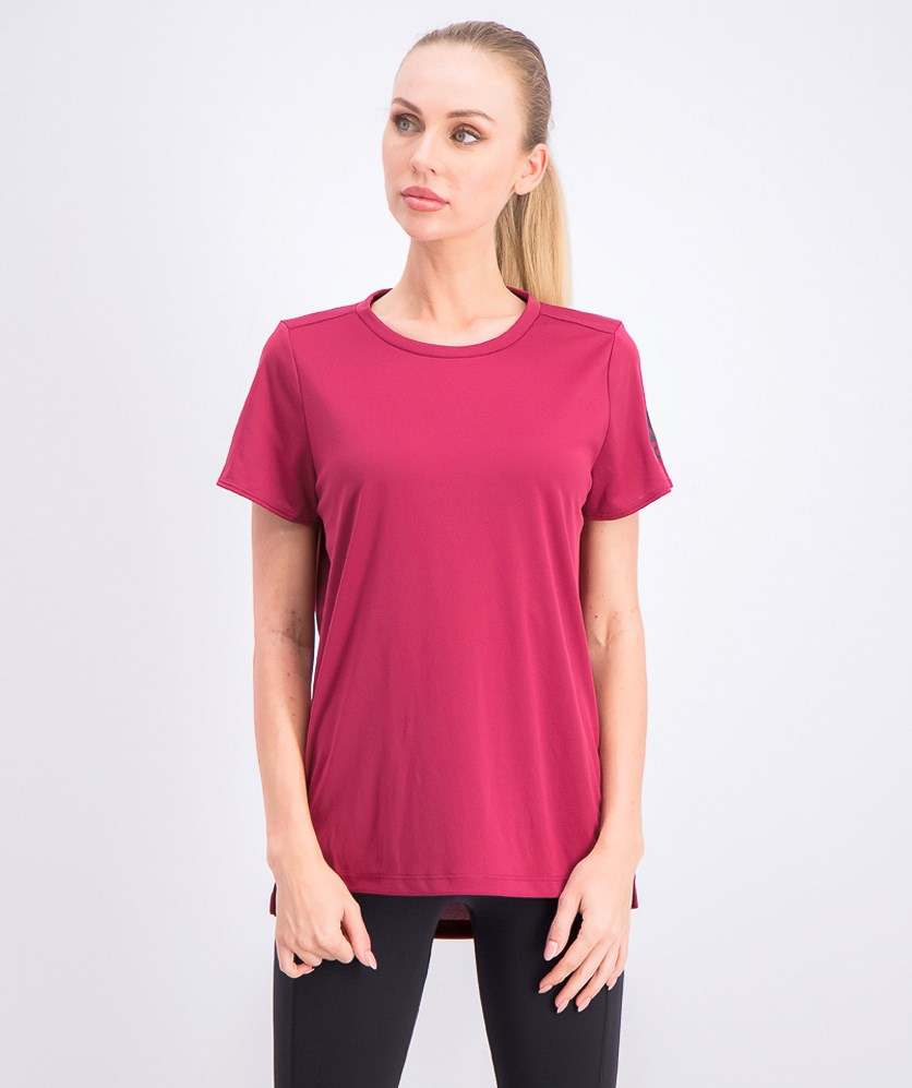 Women's Short Sleeve Tee, Burgundy