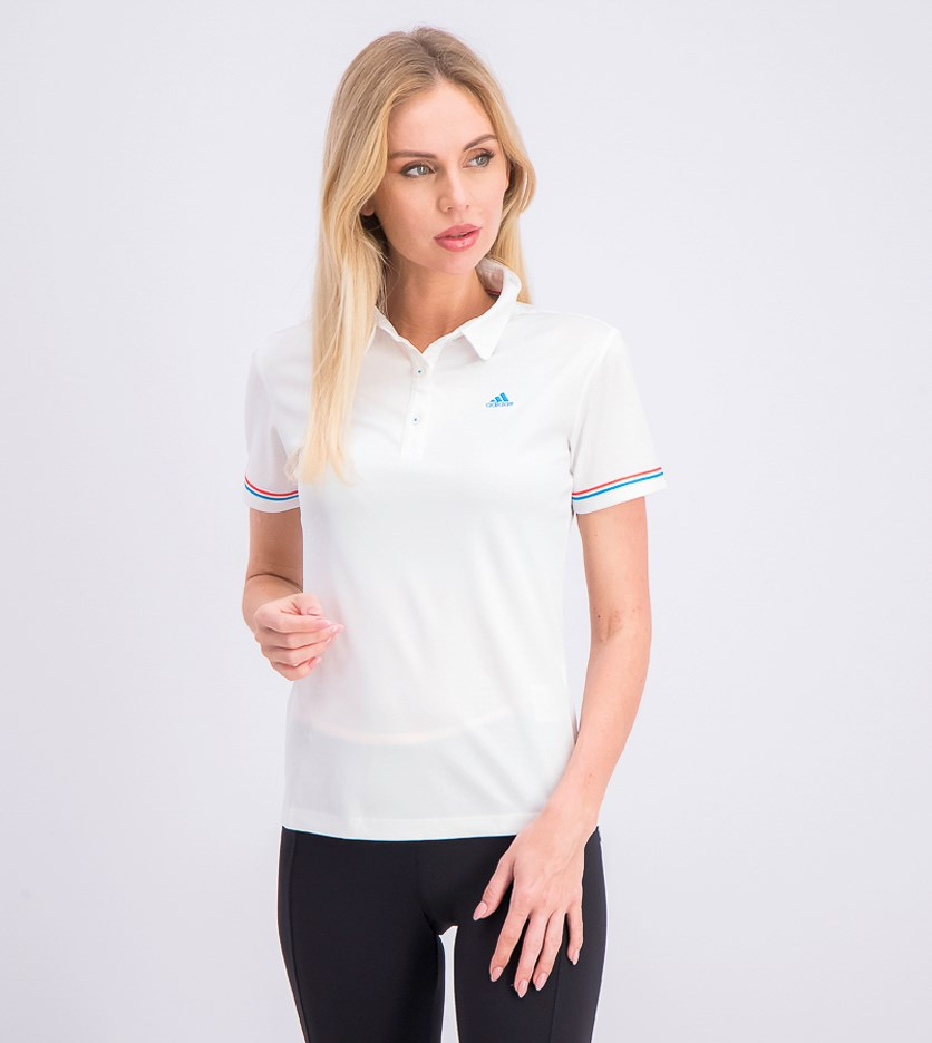 Women's Short Sleeve Polo, White