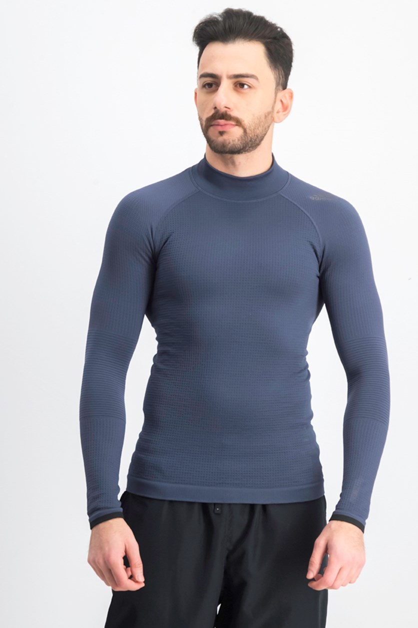 Men's Techfit Climaheat Longsleeve Tee, Navy Blue