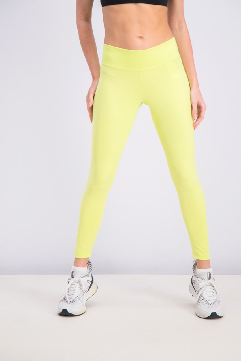 Women's Hight Rise Tights, Lime Green