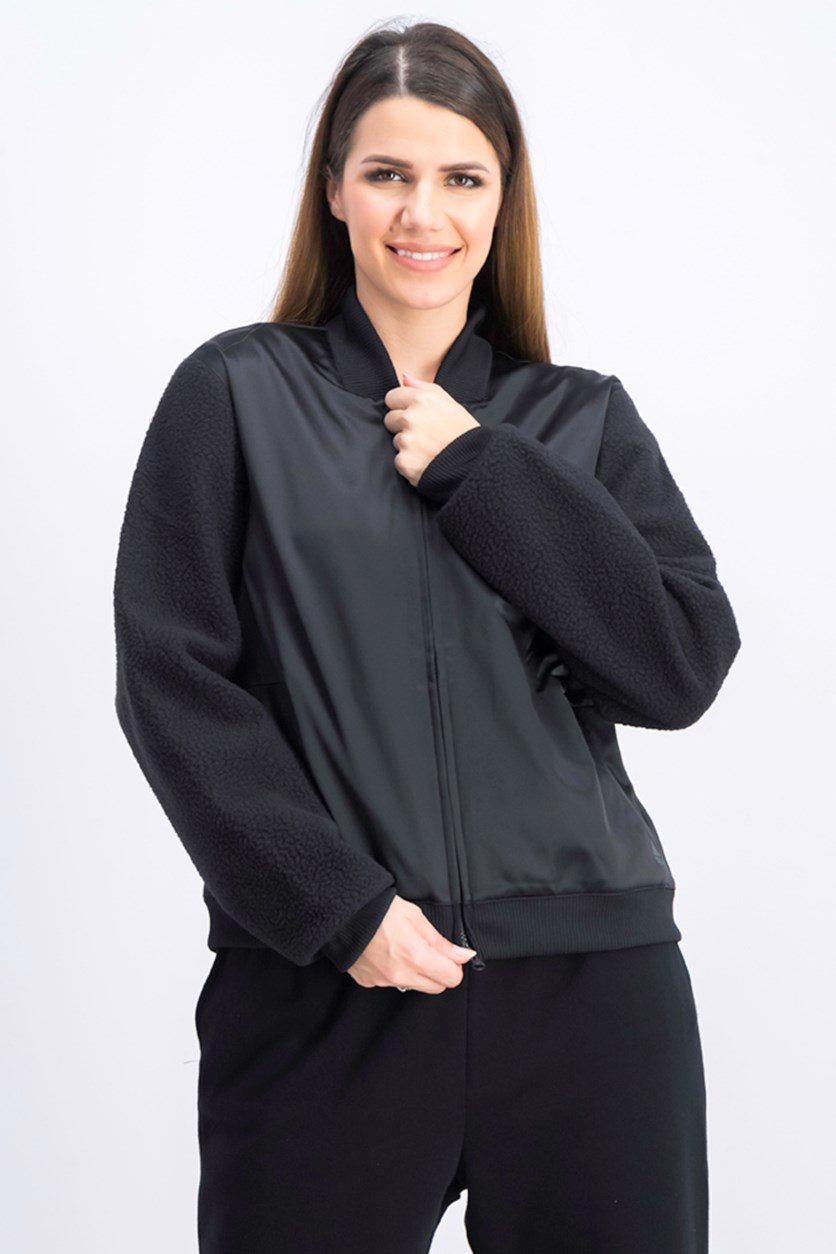 Women's ID Sherpa Bomber Jacket, Black