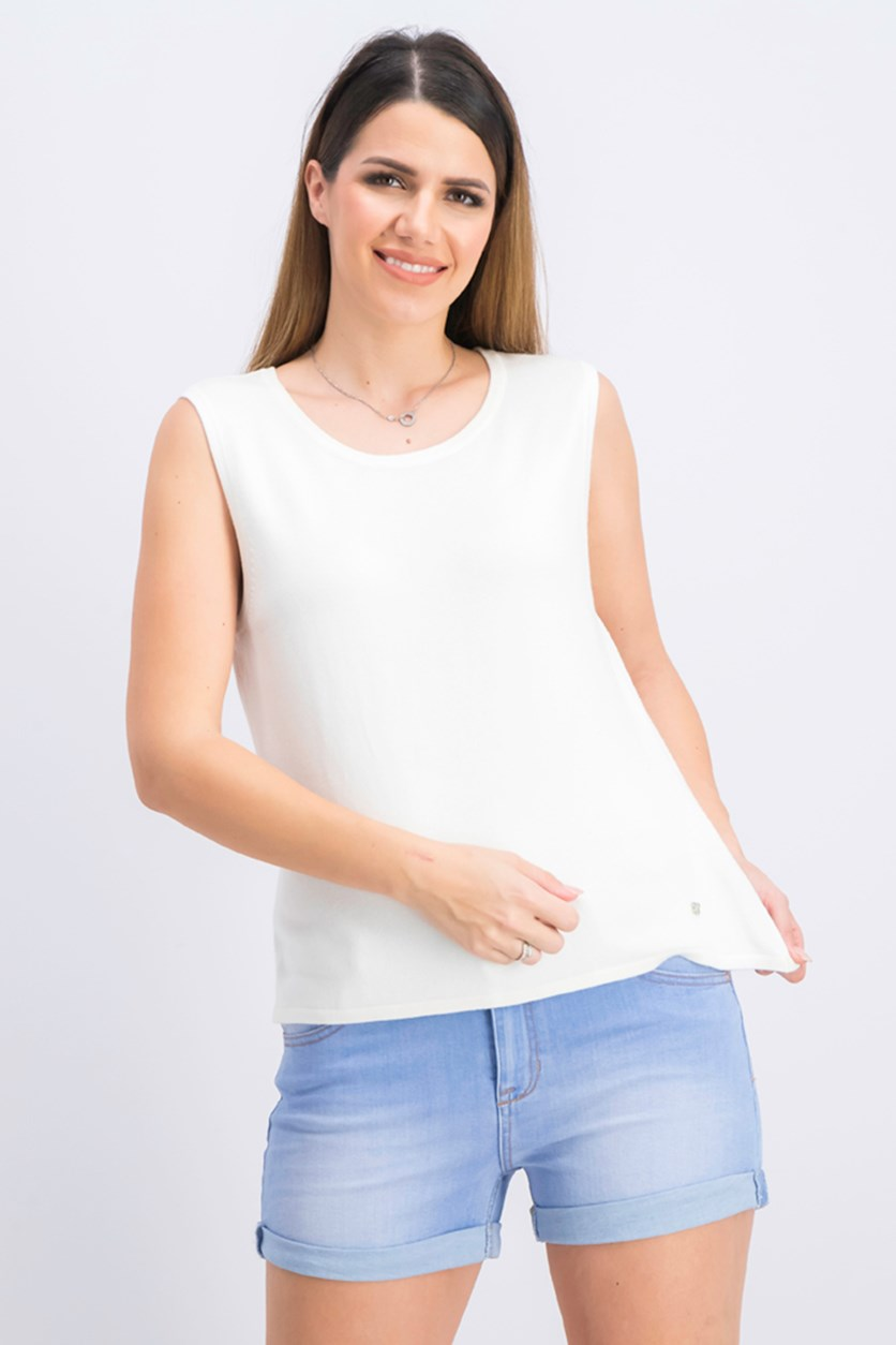 Women's Pullover Sleeveless Tops, White