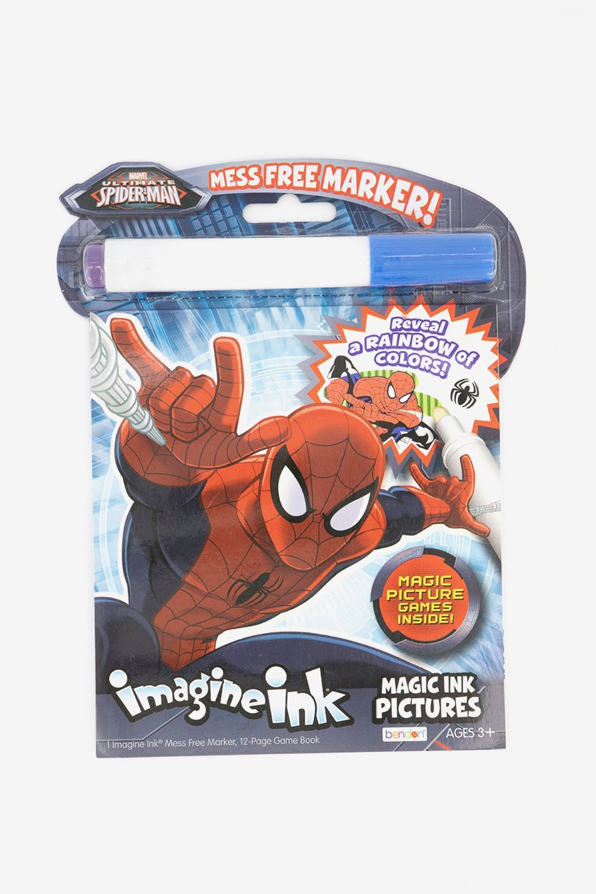 Spiderman Imagine Magic Ink Pictures, Blue/Red Combo
