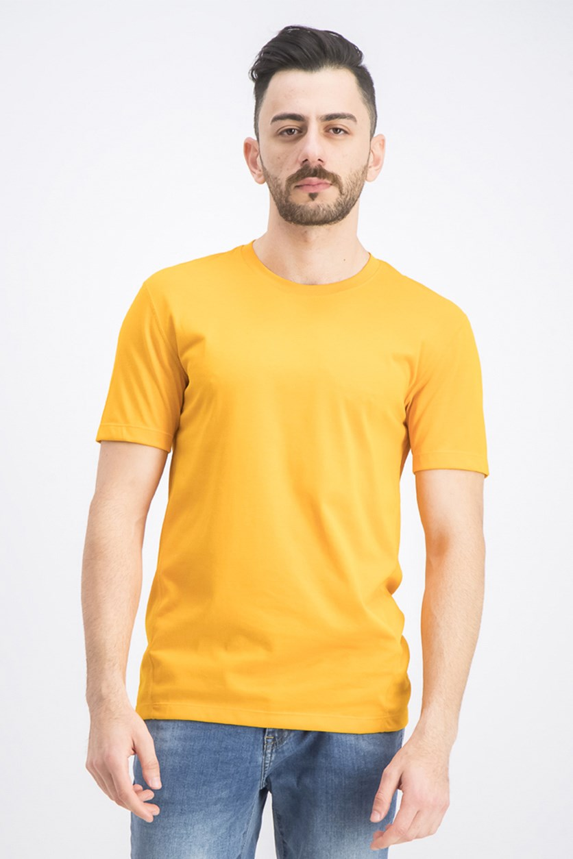 Men's Crew Neck Short Sleeves, Orange