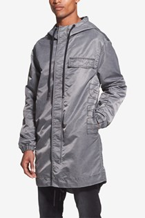 Men's Lightweight Hooded Duffle Coat, Grey